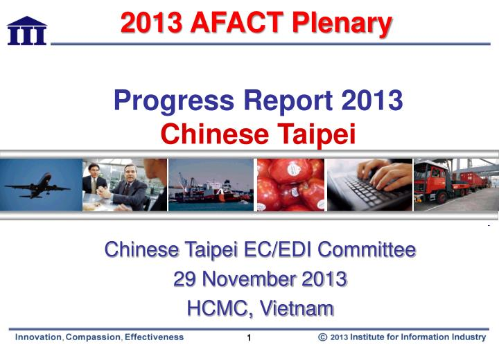 Progress report 2013 chinese taipei