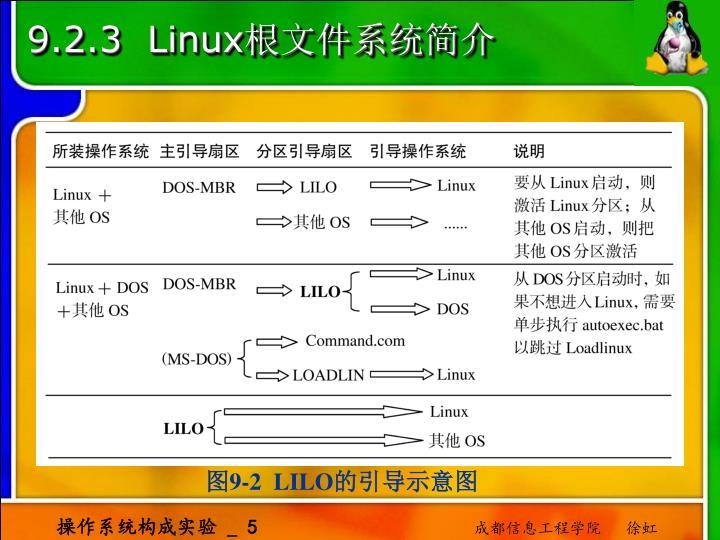 9.2.3  Linux