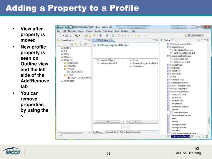 Adding a Property to a Profile
