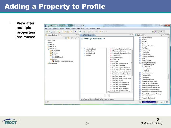 Adding a Property to Profile
