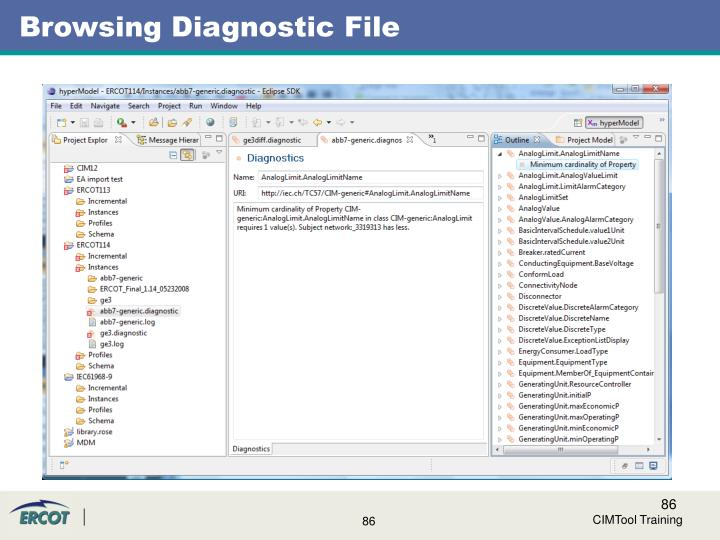 Browsing Diagnostic File