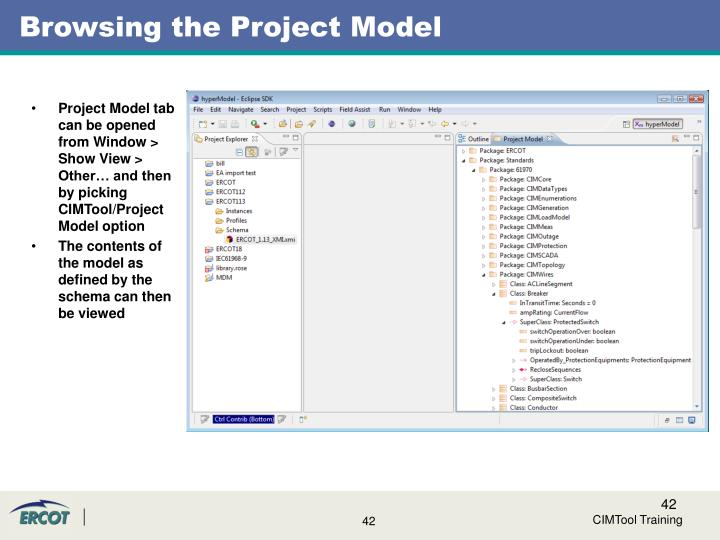 Browsing the Project Model