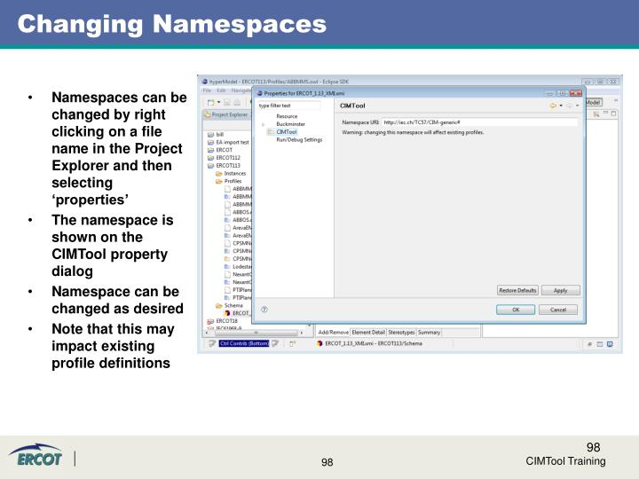 Changing Namespaces