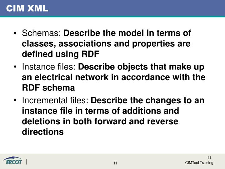 CIM XML
