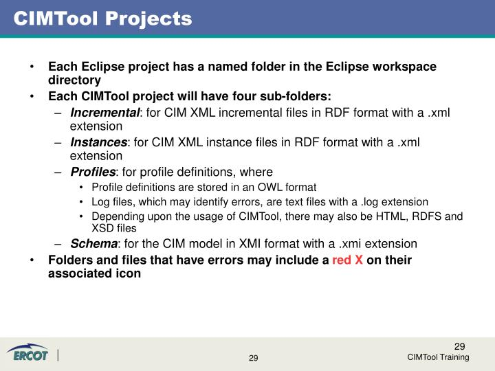 CIMTool Projects