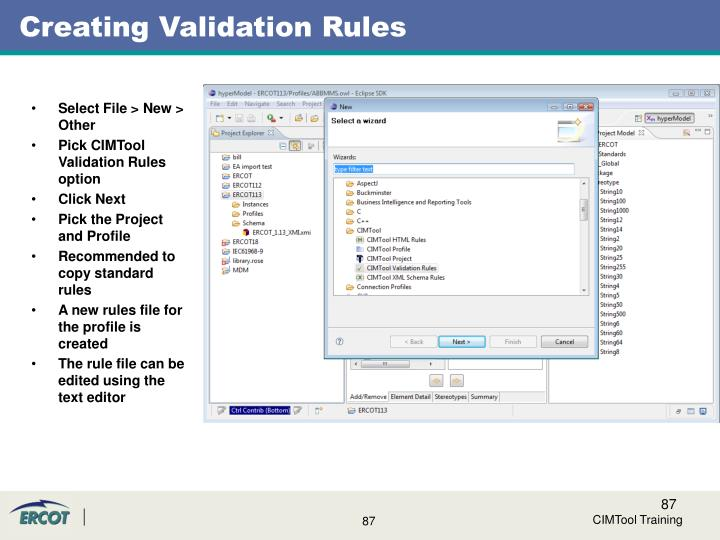 Creating Validation Rules