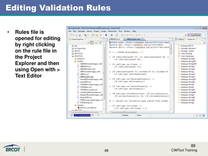Editing Validation Rules