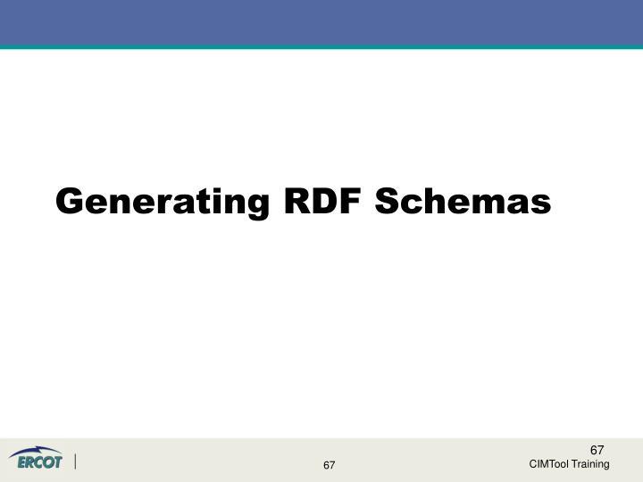 Generating RDF Schemas