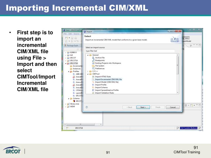 Importing Incremental CIM/XML