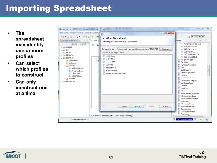 Importing Spreadsheet