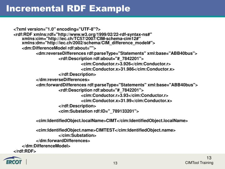 Incremental RDF Example
