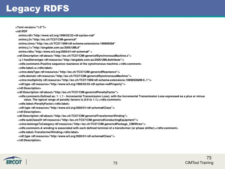 Legacy RDFS