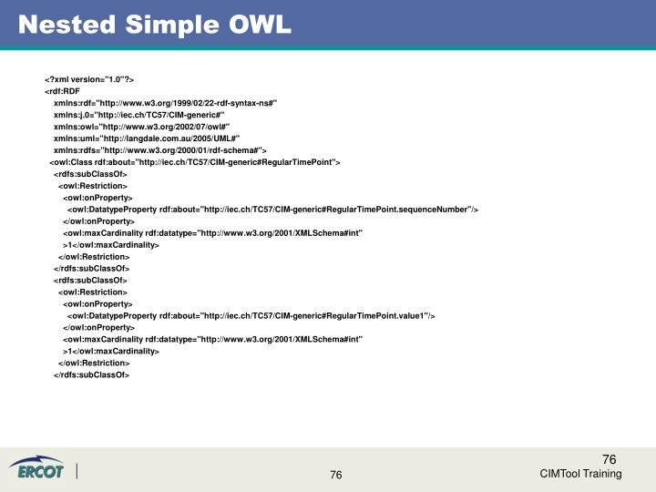 Nested Simple OWL