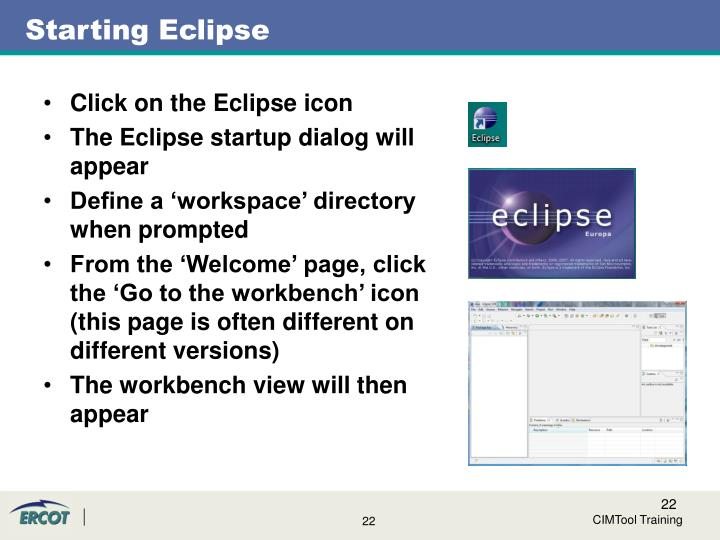Starting Eclipse