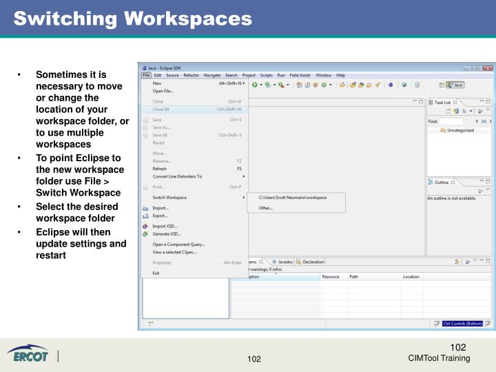 Switching Workspaces