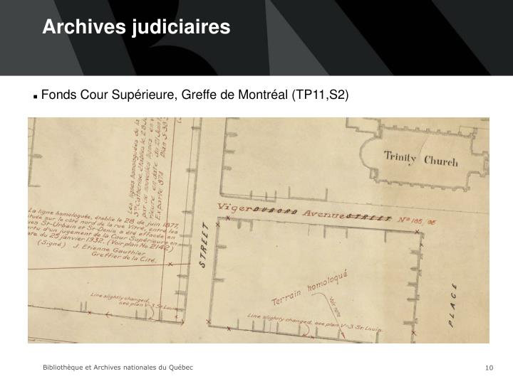 Archives judiciaires
