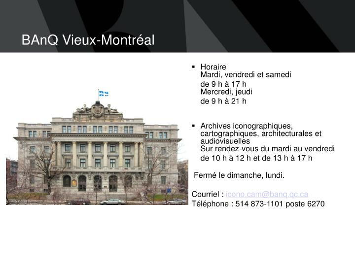 BAnQ Vieux-Montréal