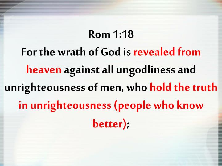 Rom 1:18