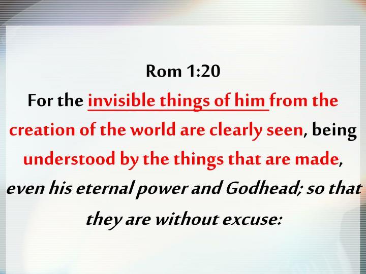 Rom 1:20
