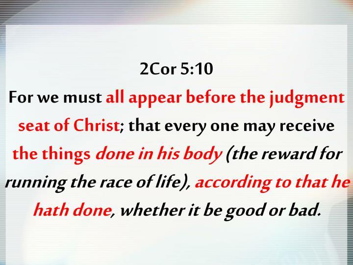 2Cor 5:10