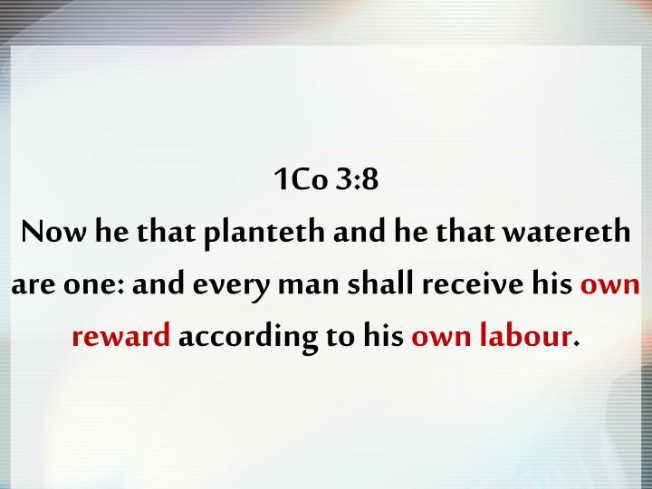 1Co 3:8