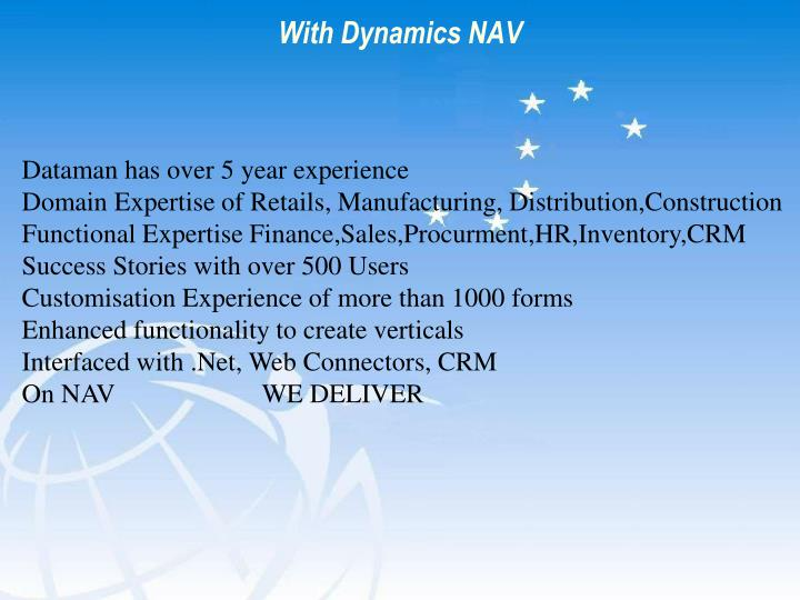 With Dynamics NAV
