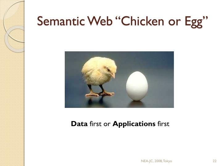 "Semantic Web ""Chicken or Egg"""