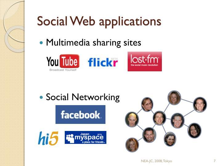 Social Web applications