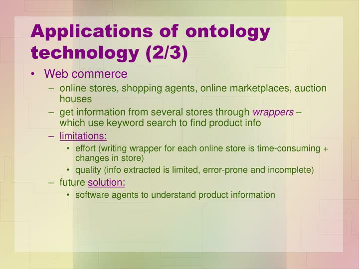 Applications of ontology technology (2/3)