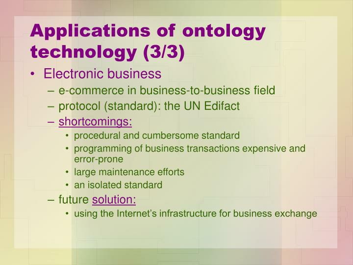 Applications of ontology technology (3/3)