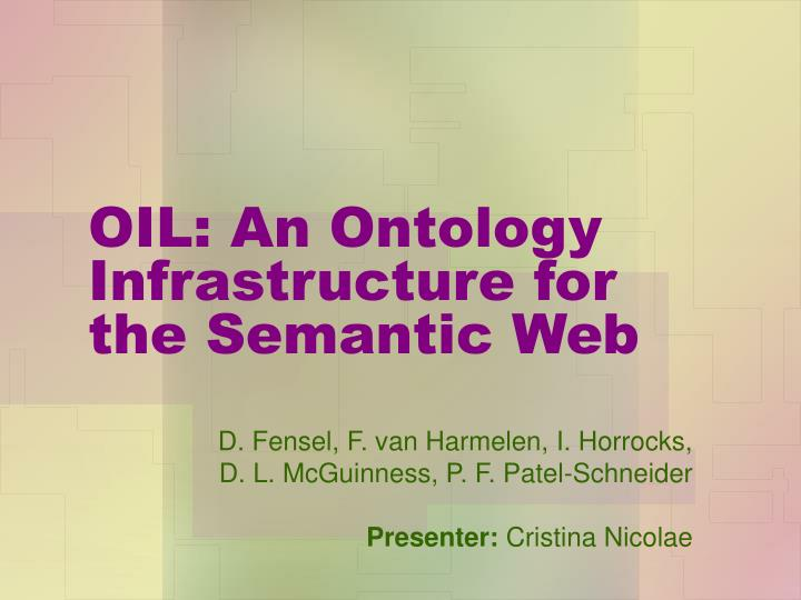 Oil an ontology infrastructure for the semantic web