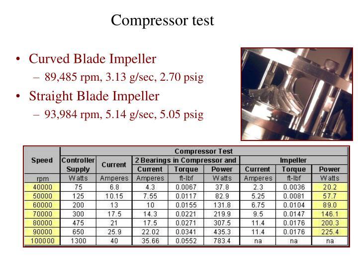 Curved Blade Impeller