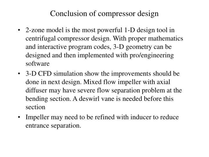 Conclusion of compressor design