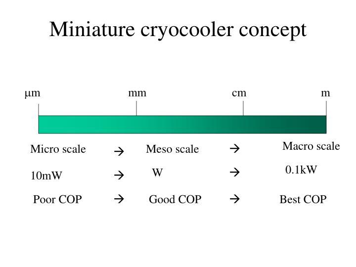 Miniature cryocooler concept
