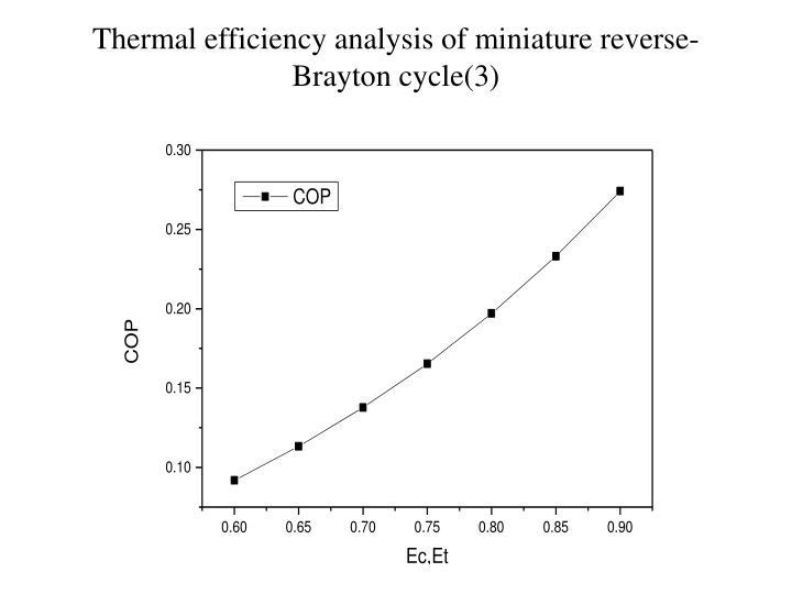 Thermal efficiency analysis of miniature reverse-Brayton cycle(3)