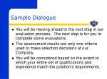 sample dialogue