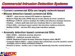 commercial intrusion detection systems