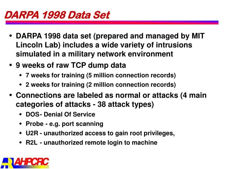 DARPA 1998 Data Set