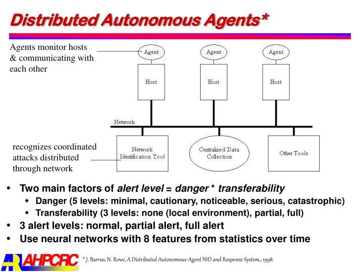 Distributed Autonomous Agents*