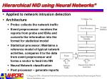 hierarchical nid using neural networks