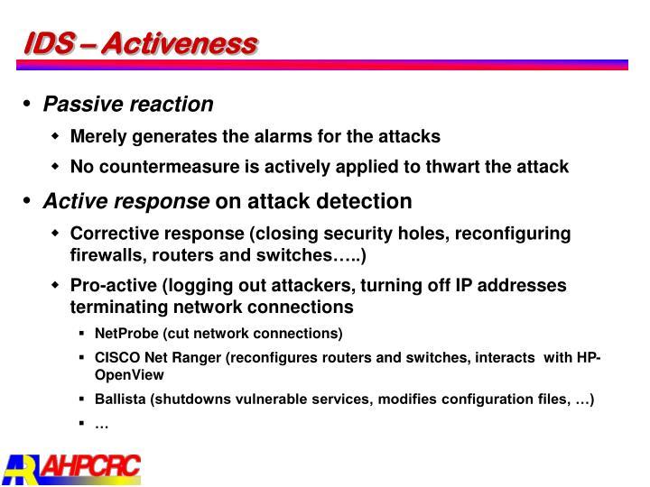 IDS – Activeness