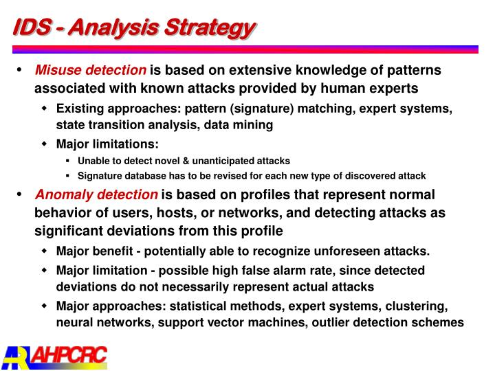 IDS - Analysis Strategy