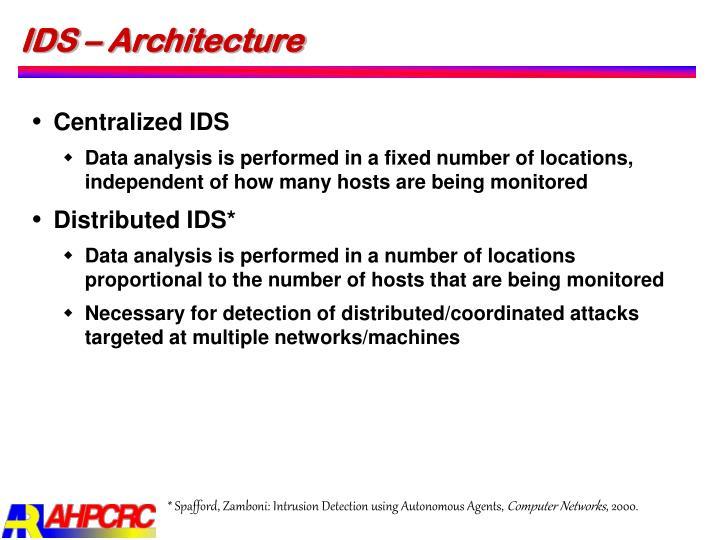 IDS – Architecture