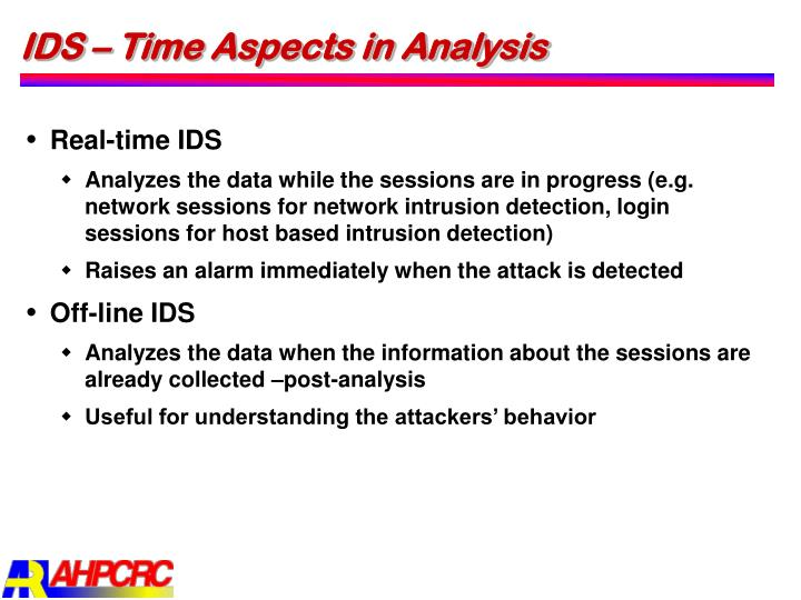 IDS – Time Aspects in Analysis