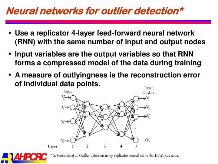 Neural networks for outlier detection*