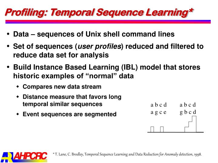 Profiling: Temporal Sequence Learning*