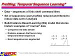 profiling temporal sequence learning