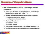 taxonomy of computer attacks