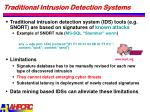 traditional intrusion detection systems