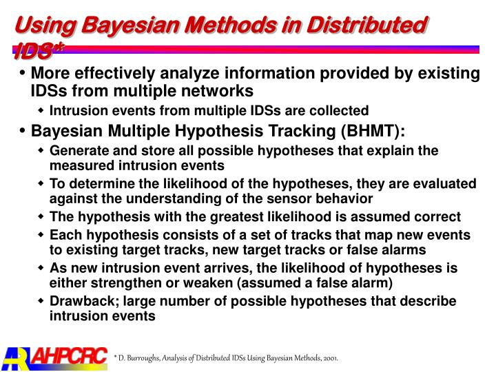 Using Bayesian Methods in Distributed IDS*